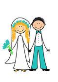 Gelukkig getrouwd koppel — Stockfoto