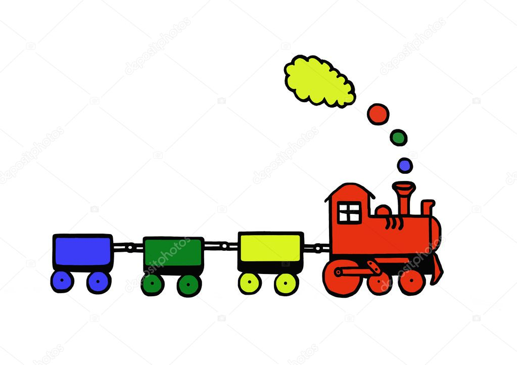 Funny train — Stock Photo #4252534