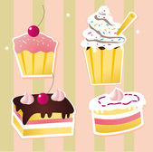 Colorful set of cakes — Stock Photo