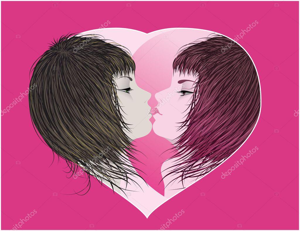 Spegel kyss — stock vektor © natalimar #4405626