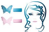 蝶の少女 — ストックベクタ