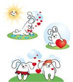 älska bunny — Stockvektor