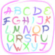 Handwritten alphabet - Stock Vector