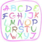 El yazısıyla yazılan alfabe — Stok Vektör