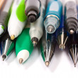 Stock Photo: Colored ballpoint pens