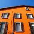 Stock Photo: Orange house in Italiyard
