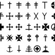 33 cross symbols — Stock Photo