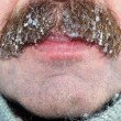 Stock Photo: Moustaches with ice