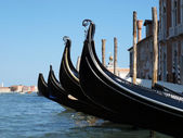 Venice gondola near San Marco square — Stock Photo