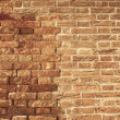 Stock Photo: Uneven and old brick wall