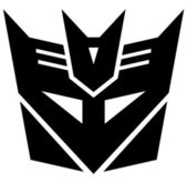 Transformers. Desepticon emblem — Stock Photo