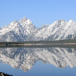 Grand Tetons mirrored — Stock Photo