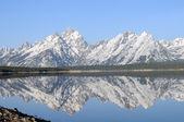 Grand Tetons mirrored — Stock Photo