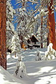 Snow cabin — Stock Photo
