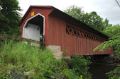 Covered bridge red Vermont — Stock Photo
