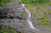 Blue Ridge Parkway waterfall rock — Stock Photo