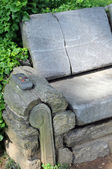 Stone chair — Stock Photo