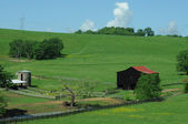 Dark farm barn — Stock Photo