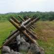 Gettysburg barrier — Stock Photo