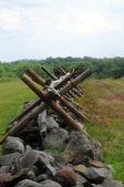Gettysburg barrière — Stockfoto