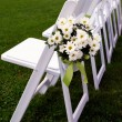 Guest Chairs for Outdoor Wedding — Stock Photo