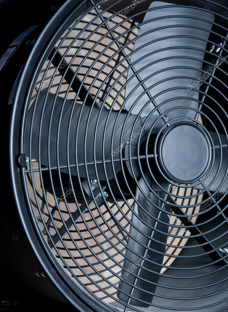 Big black metallic fan close-up as a background — Stock Photo #4413963