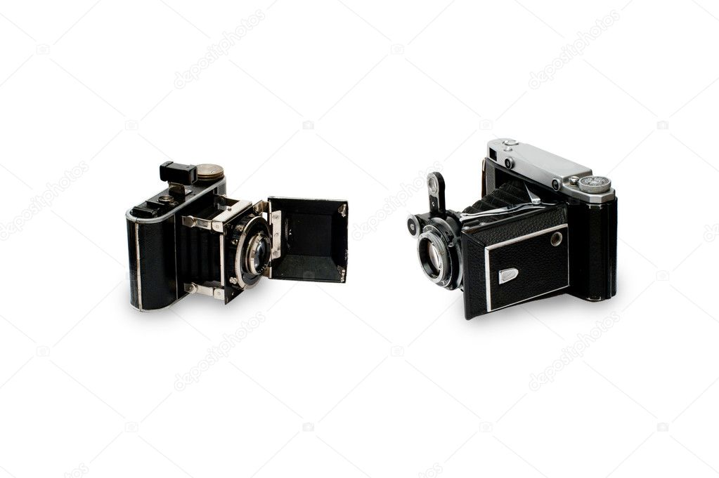 Two old cameras  Stock Photo #4275454