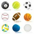 Sport balls — Stock Vector #4212120