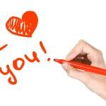 Writing i love you — Stock Photo