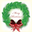 Vettoriale Stock : Christmas wreath