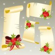 Christmas scrolls — Stock Vector