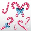 Candy cane set — Stock Vector