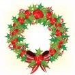Holly berry wreath — Stock Vector #4278496