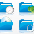 Stockvector : Folders