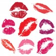 Royalty-Free Stock Vector Image: Kisses Seamless background
