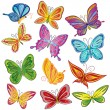 Butterfly set — Stock Vector #4278938