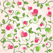 Elegant seamless pattern with abstract floral hearts — Stock Vector