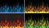 Multicolor fire — Stock Vector