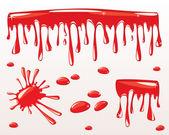 Blood drips — Stock Vector