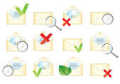 Mail envelope icons — Stock Vector