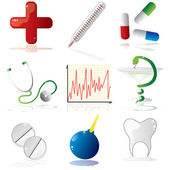 Medicine icon set — Stockvektor