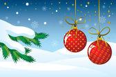 Jul bakgrund med grannlåt — Stockvektor