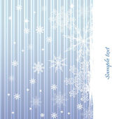 Winter background with beautiful various snowflakes — Stock Vector