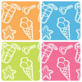 Ice cream set — Stockvektor