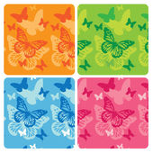 Collection of butterfly — Stock vektor