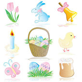 Easter Elements Vector Collection — Stock Vector