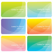 Set of templates for business cards. Elements for design — Stock Vector