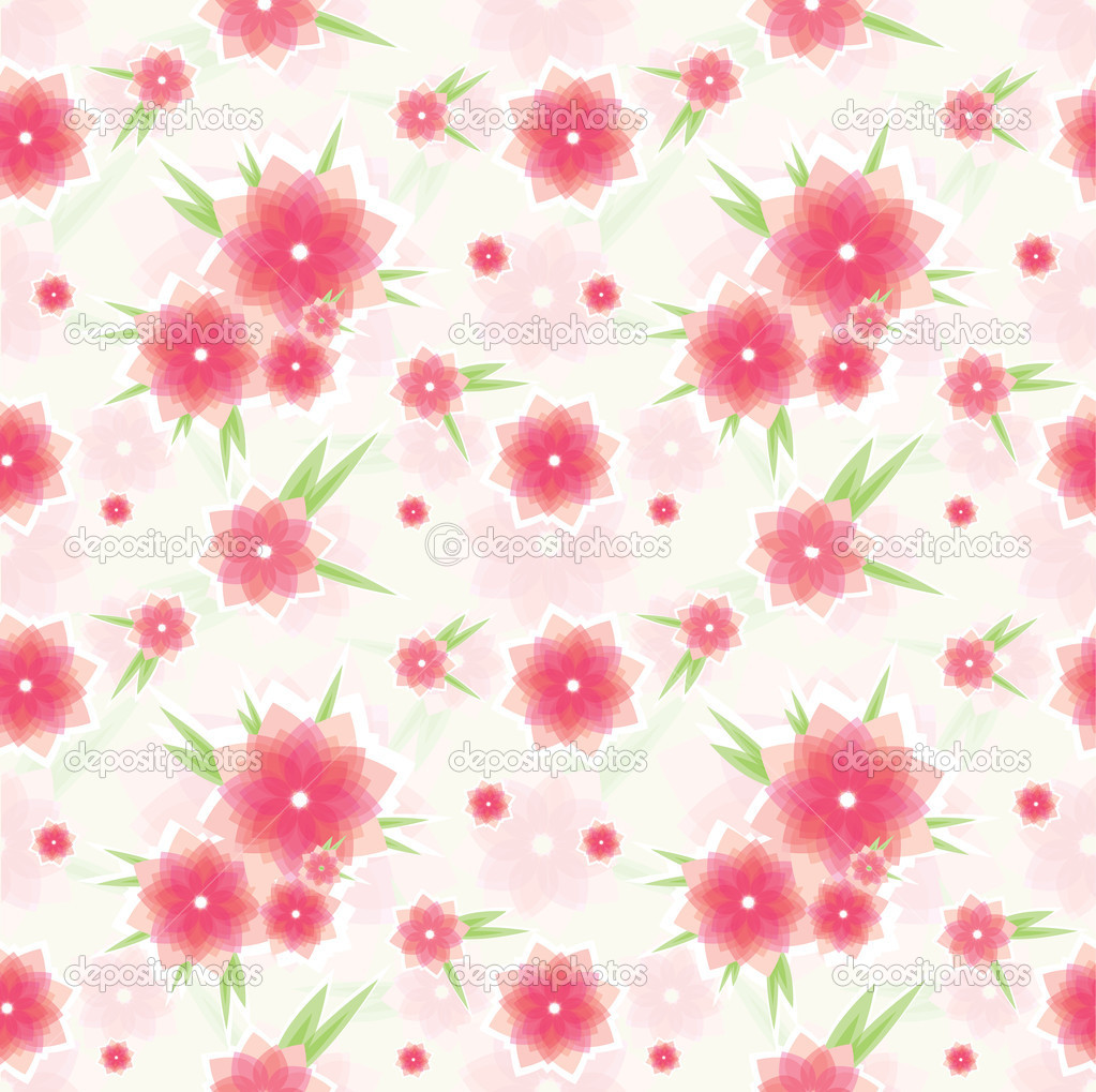 Seamless pink floral pattern - photo#27