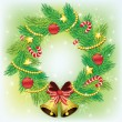 Christmas wreath — Vecteur #4312665