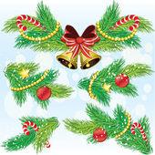 Christmas decoration design elements — Stock Vector